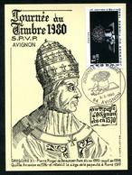 JOURNEE DU TIMBRE AVIGNON  8-3-1980 -  PAPE GREGOIRE XI - Stamp's Day