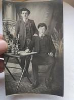CARTE PHOTO 1900's Portrait 2 Hommes Costume Carte Postale Ancienne CPA Postcard Animee - Photos