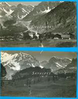 Italie * Macugnaga Et Le Mont Rose, Ghiacciaio Belvedere * 2 Photos Vers 1910 - Voir Scans - Luoghi