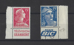 FRANCE  YT  N° 886-1011  Neuf **  1951-55 - Ungebraucht