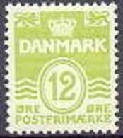 DENEMARKEN 1952 12öre Golflijn Fluorescerend Papier PF-MNH-NEUF - Neufs