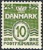 DENEMARKEN 1949 10õre Groen Golflijn Fluorescerend PF-MNH-NEUF - Neufs