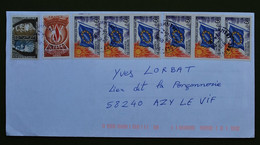 8 Timbres Unesco Et Conseil De L'Europe Sur Enveloppe Postée à Champigny (Essonne) En 2016 - Envoi Non Taxé ! ?? - - Lettres & Documents