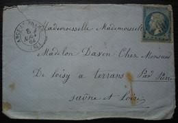 Ancy-le-Franc Yonne  GC 90 Lettre Pour Terrans Par Pierre - 1849-1876: Classic Period