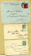 Clermont Fd Puy De Dôme Type A3 1908 138 Semeuse / Entier Postal 75 E3 Sage 5c Pour St Amand Tallende Lot De 3 - 1877-1920: Periodo Semi Moderno