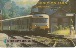 TARJETA DE MERCURY DE UN TREN TURBOTRAIN (TRAIN-ZUG) - Trenes