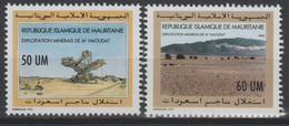 Mauritanie Mauretanien Mauritania 1993 Mi. 1010 - 1011 Exploitation Minerais M'Haoudat 2 Val. ** - Mauritania (1960-...)