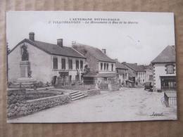 CPA - VILLOSSANGES - LE MONUMENT ET RUE DE LA MAIRIE - Andere Gemeenten