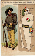 MILITARI - BERSAGLIERI - IL SOLDATO ITALIANO VISTO COI RAGGI X - 1917 - Vedi Retro - War 1914-18