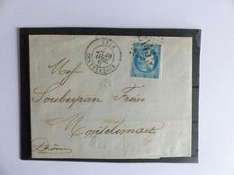 CERES  46 B  SUR  LETTRE  COTE  30 € - 1870 Bordeaux Printing
