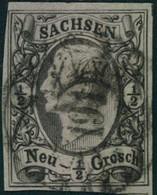 "1851, 1/2 Ngr. Johann Mit Nummernstempel ""191"" LOCKWITZ - Saxe"