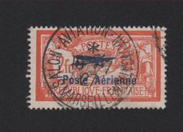 Faux Timbre De France Poste Aérienne N° 1, 2 F Merson Oblitéré Du Salon - 1927-1959 Afgestempeld