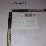 FB3822 GERMANIA BERLINO INTERO POSTALE PREAFFRANCATO 20 C. + 2 VALORI DA BERLINO A AMBURGO 1978 - Postales - Usados