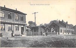 62 - VIOLAINES AUCHY : La Gare ( SNCF ) CPA Village ( 3.670 Habitants) - Pas De Calais - Sonstige Gemeinden