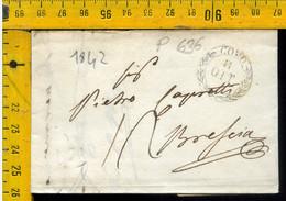 Piego Con Testo Como Per Brescia - 1. ...-1850 Prephilately
