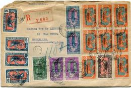 OUBANGUI-CHARI LETTRE RECOMMANDEE DEPART BAMBARI 24 SEPT 29 OUBANGUI-CHARI POUR LA BELGIQUE - Storia Postale