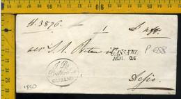 Piego Con Testo Cassano Per Desio - 1. ...-1850 Prephilately