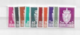 1955 MNH Norwegen, Norway, Norge, DIENST, Postfris - Officials