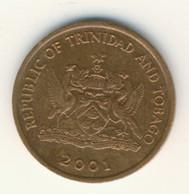TRINIDAD & TOBAGO 2001: 5 Cents, KM 30 - Trinidad & Tobago