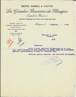 BLAUGIES  -  Les Grandes BRASSERIES De Blaugies - 1933 - Food