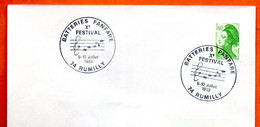 74 RUMILLY   BATTERIES  FANFARE ( Pli ) 1983 Lettre Entière N° FG 245 - Commemorative Postmarks