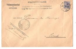 REF3437/ TP Oc 31 S/L. Politiecommissariaat Oostacker - Gemeentebestuur Censure 33 1917 > Gent - [OC26/37] Etappengeb.