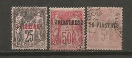 Timbre Colonie Française Levant Oblitéré  N 4 / 5 / 8 - Oblitérés