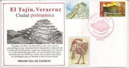 MEXICO. Zona Arqueológica El Tajín.Ciudad Prehispanica (Mesoamérica) Vera Cruz.  FDC 2000 - Archeologia
