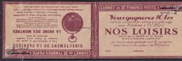 Publicité - YT Couverture Du Carnet (vide) Rue De La Casbah 10c Carnet 2F Série 115. (Maury CA 7) - Ohne Zuordnung