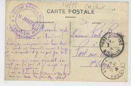 GUERRE 1914-18 - AVIGNON - Cachet De L'HÔPITAL ANNEXE MILITAIRE SAINT JOSEPH - Pont Saint Bénézet - War 1914-18