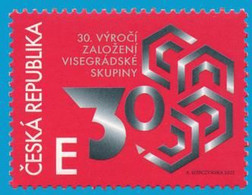 Czech Republic - 2021 - 30th Anniversary Of Visegrad Group (V4) - Mint Stamp - Unused Stamps