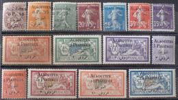 R2452/34 - 1925 - COLONIES FR. - ALAOUITES - SERIE COMPLETE - N°1 à 15 NEUFS* - Cote (2020) : 107,00 € - Neufs
