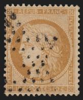 N°36, Oblitéré étoile De Paris évidée, Cérès Siège De Paris 1870 - TB - 1870 Siege Of Paris