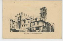 AVIGNON - Eglise Saint Agricole - GUERRE 1914-18 - Cachet De L'HÔPITAL ANNEXE MILITAIRE SAINT JOSEPH - Avignon