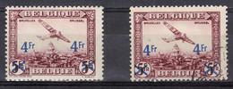 Belgique:  PA 7-** Sans Charnière + PA 7 Oblitéré - Airmail