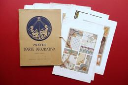 Modelli D'Arte Decorativa Cartella 39 Tavole Cromolitografie Liberty Primo '900 - Non Classificati
