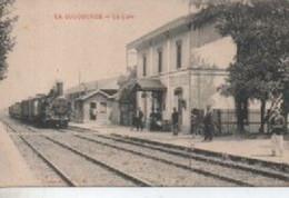 LA COUCOURDE    LA   GARE  AVEC TRAIN - Altri Comuni