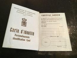 Luxembourg Carte D'identité Avec Timbre Taxe Communale Steuermarke Bech - Fiscale Zegels