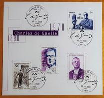 "FRANCE 2020 BLOC FEUILLET ""CHARLES DE GAULLE 1890 - 1970 GÉNÉRAL DE GAULLE"" - OBLITERE 1er JOUR 05.11.2020 - Gebraucht"