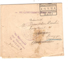 REF3440/ Lettre En Franchise Gemeente Nukerke > Audenarde Etappen Gent 1917 > Brugge - [OC26/37] Etappengeb.