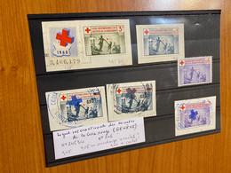 Lot De 6 Vignettes - Genève /croix Rouge ( Voire Scan) - Croix Rouge