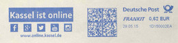 122  Internet, Social Media: Facebook, Google, Twitter, YouTube - Meter Stamp From Kassel, Germany. Informatics Computer - Computers