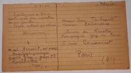Lettre, Carte 44 RAMD Régiment D'artillerie Mixte Divisionnaire 1940 Rambervillers Vosges - 1939-45