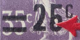 "R1491/4 - 1926/1927 - TYPE SEMEUSE CAMEE - N°218b BLOC NEUF**(3)/*(1) - VARIETE (TIMBRE NEUF**) ➤➤➤ "" 5 "" Fermé - Abarten: 1921-30 Ungebraucht"