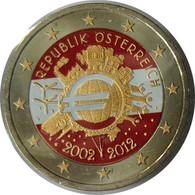 AU20012.3 - AUTRICHE - 2 Euros Commémo. Colorisée 10 Ans De L'euro - 2012 - Austria