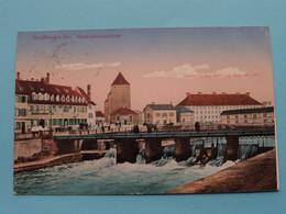 Strasburg I. Els SCHLACHTHAUSBRÜCKE ( Kaserne D. Kgl. Sächs Inf. Regts N° 105 ) Anno 1916 ( See Photo ) ! - Caserme
