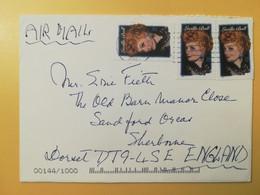 2001 BUSTA STATI UNITI UNITED STATES U.S.A. BOLLO LUCILLE BALL OBLITERE' - Cartas
