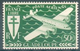 Guadeloupe, 50f, Série De Londres, 1945, **, TB - Poste Aérienne