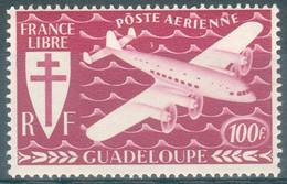 Guadeloupe, 100f, Série De Londres, 1945, **, TB - Poste Aérienne