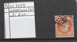 N° 23  -  GC 3429  SOMBERNON  (20) COTE D' OR - REF 10009 - 1862 Napoleon III